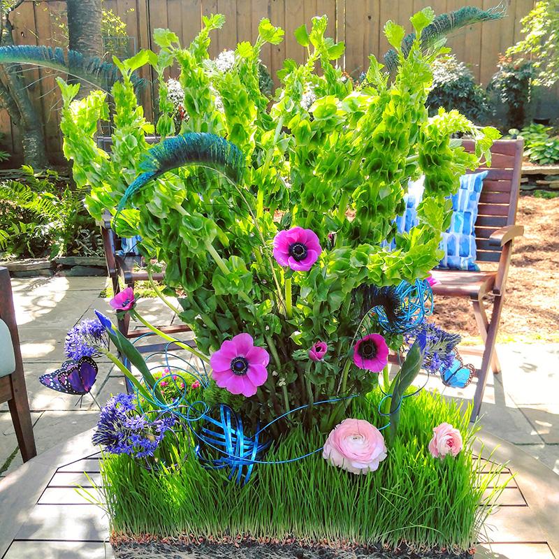 Sympathy Arrangment Unique Green Garden Design