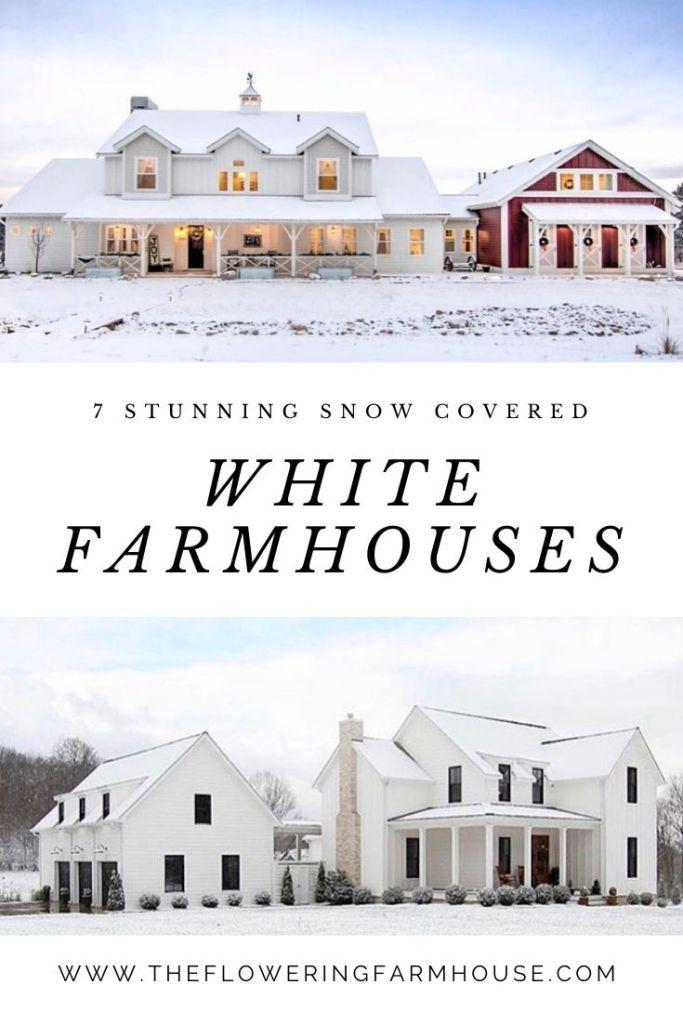 7 stunning snow covered white farmhouses
