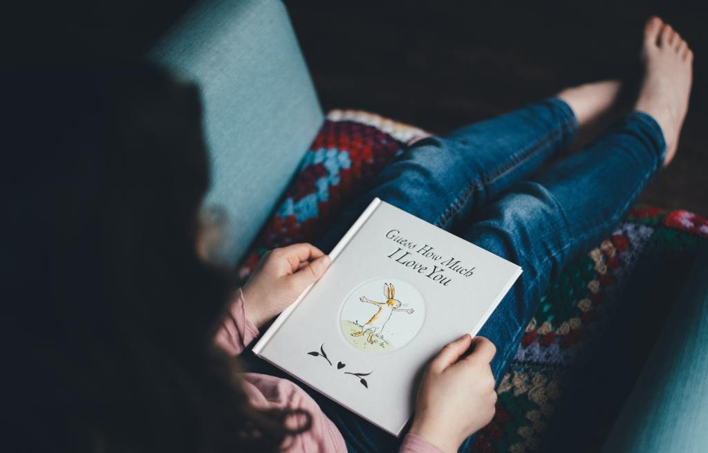 reading with children is a great stay at home activity