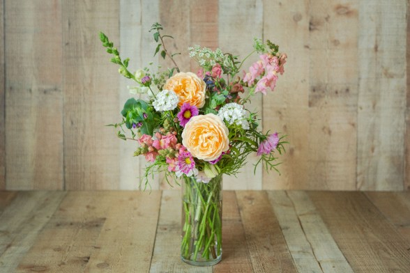 flower bouquet created from cut flower garden