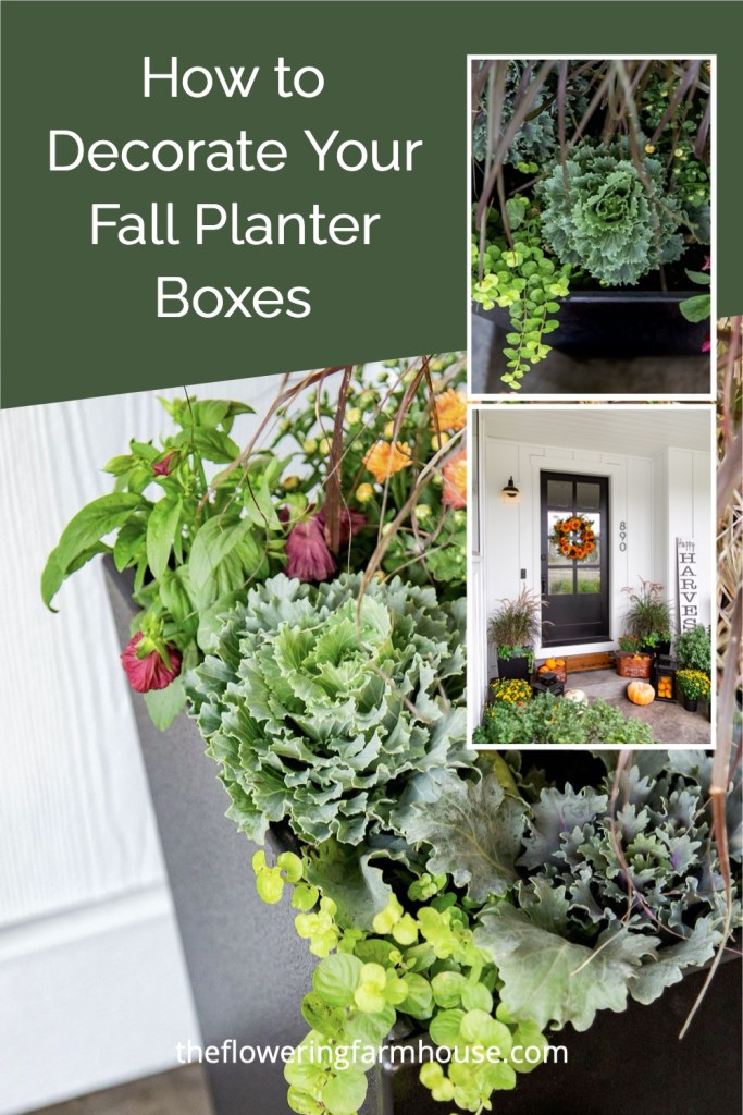 fall planter boxes