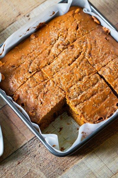 slice of homemade pumpkin bread