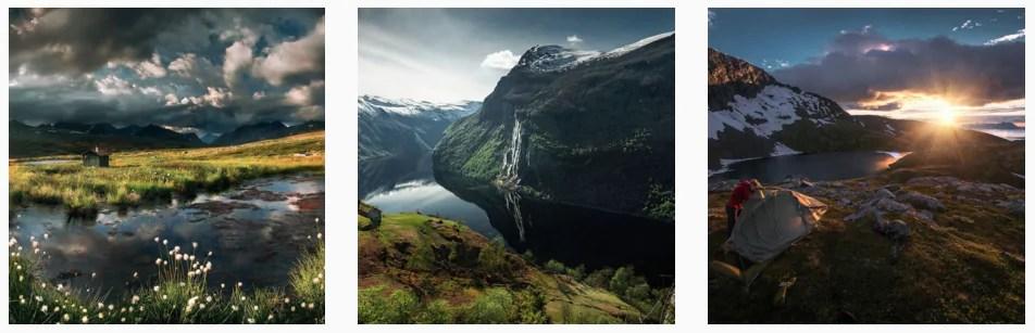 Best Norway Instagram photos mountains