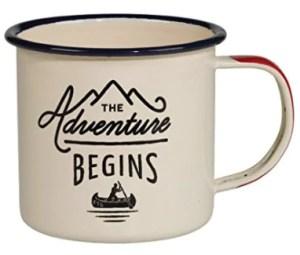 Holiday gift guide for the millennial traveler - enamel travel mug