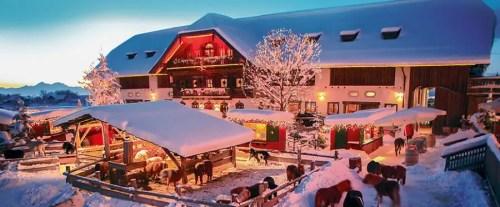 Gut Aiderbichl Weihnachtsmarkt is located in Henndorf near Salzburg and continues in January
