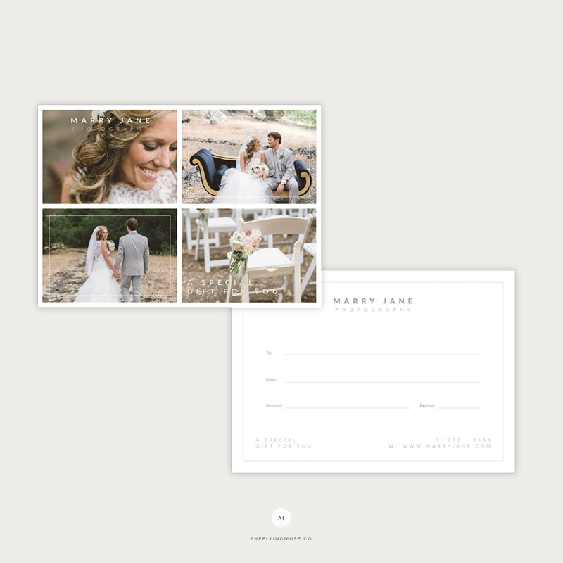 Photography Gift Certificate Template Dealssite
