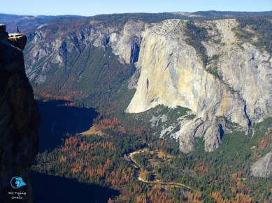 The valley from Taft Point. View towards El Capitan