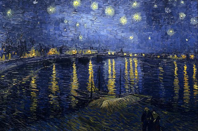 Starry Night Over the Rhone - Van Gogh