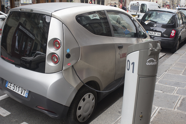 French electric car charging station