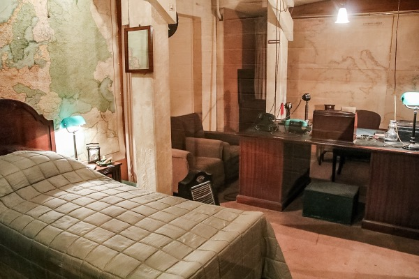 Churchill's wartime bedroom