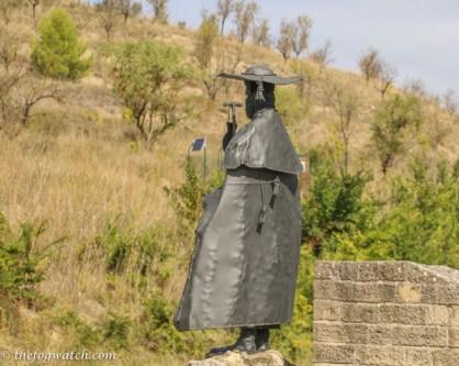 pilgrim statue Obanos