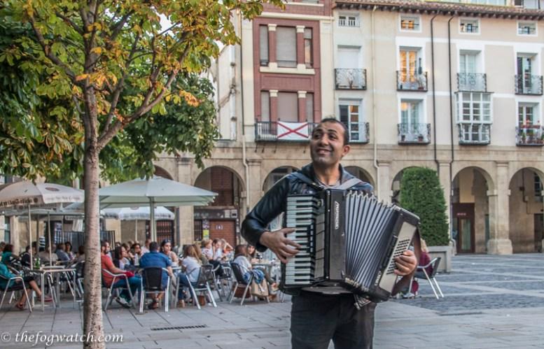 street performer, Logroño