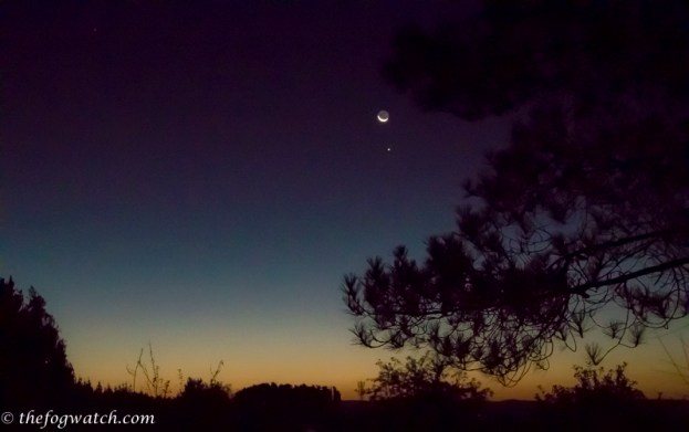 Moon over Hospital de la Cruz