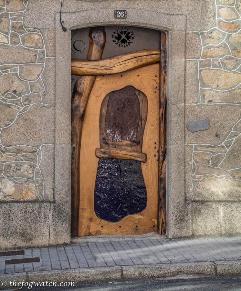 artistic door, Palas de Rei