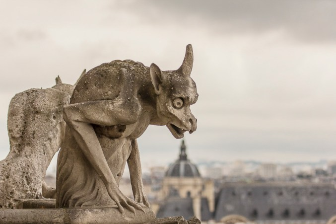 Gargoyle/grotesque on Notre Dame