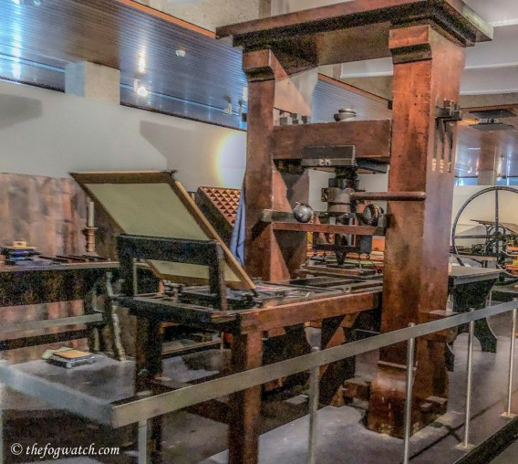 Gutenberg press (replica)