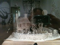 Sue Blackwell's Wuthering Heights book sculpture
