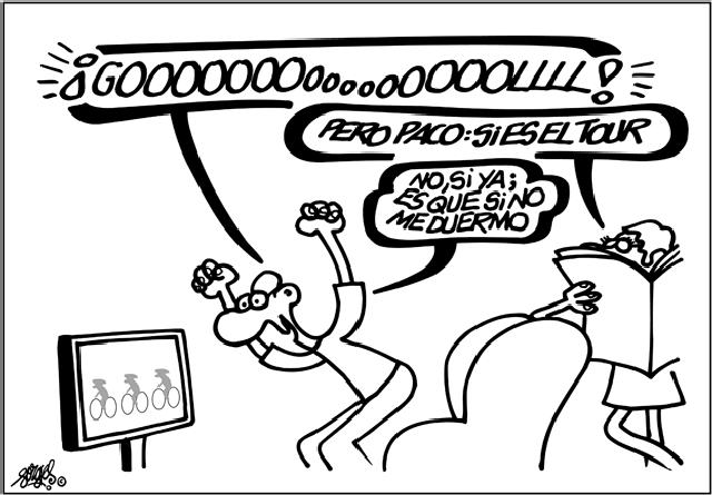 Chistes gráficos sobre ciclismo de un Genio del humor (4/4)