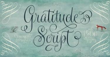 Gratitude Script [5 Fonts]