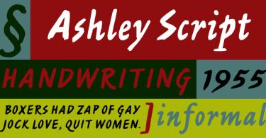 Ashley Script [1 Font]