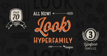 Look Super Family [76 Fonts]
