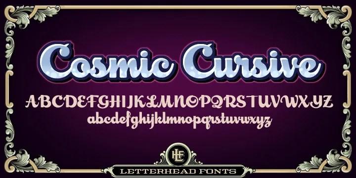 Lhf Cosmic Cursive