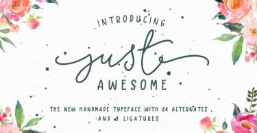 Just Awesome Typeface + Bonus [2 Fonts]