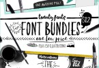 Bundle of Fonts 2 in 1 [26 Fonts + Extras]