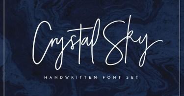 Crystal Sky Font Set [3 Fonts + Extras]