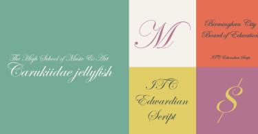 ITC Edwardian Script Super Family [10 Fonts]