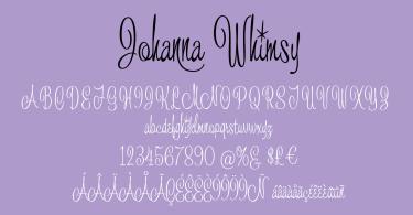 Johanna Whimsy JF [1 Font]