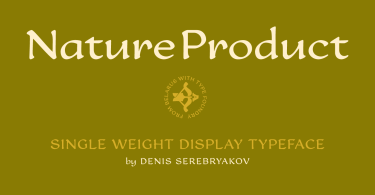 Nature Product [1 Font]