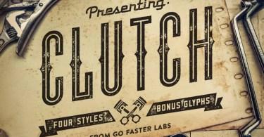 Clutch + Bonus [4 Fonts + Extras]