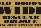 Old Bodoni Wide JNL [2 Fonts]