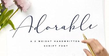 Adorable [3 Fonts]