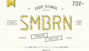 Gabriela stencil 12 fonts the fonts master smbrn stencil collection 8 fonts m4hsunfo