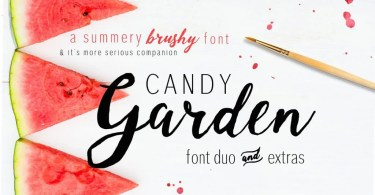 Candy Garden [2 Fonts + Extras]