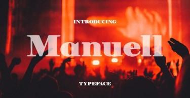 Manuell [1 Font]