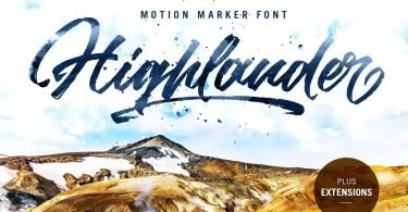 Highlander [2 Fonts]