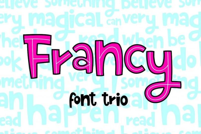 Francy [3 Fonts]