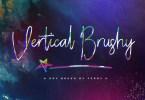Vertical Brushy [2 Fonts]