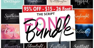 The Script Font Bundle [25 Fonts]