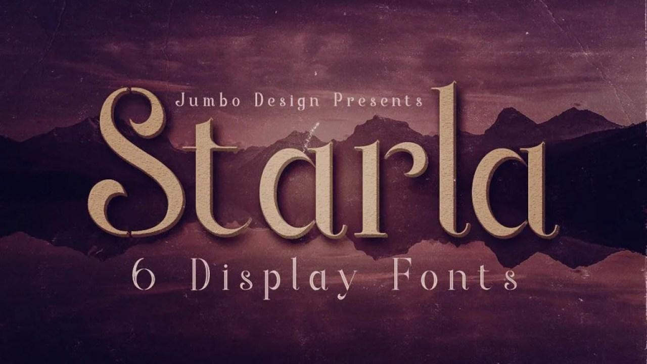 Starla [6 Fonts]   The Fonts Master