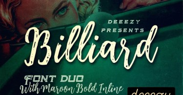 Billiard [3 Fonts]