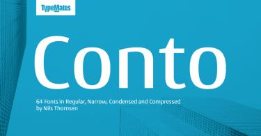 Conto Super Family [64 Fonts]
