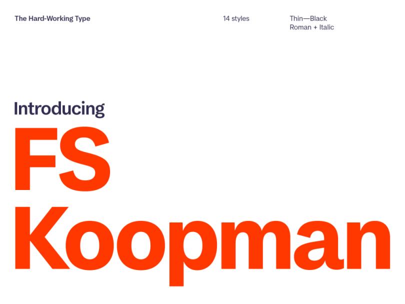 Fs Koopman Super Family [14 Fonts] | The Fonts Master