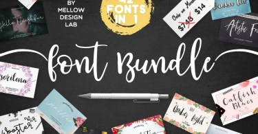 42 Professional Fonts from Mellow Design Lab [59 Fonts]