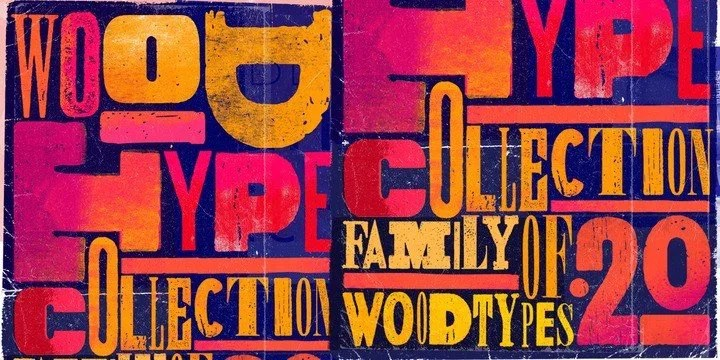 Wood Type Collection Super Family [20 Fonts]