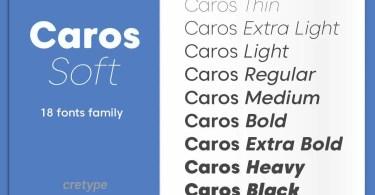 Caros Soft Super Family [17 Fonts]