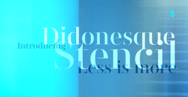 Didonesque Stencil Super Family [20 Fonts]